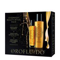Orofluido Beauty Elixir 50ml & Shampoo 200ml & Hair Turban Towel
